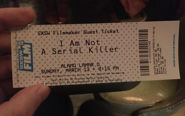 "First Review of My Work on ""I Am Not A Serial Killer"""
